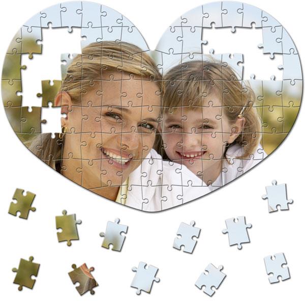 MCprint - Fotodárky: Fotopuzzle srdce - 100 dílků