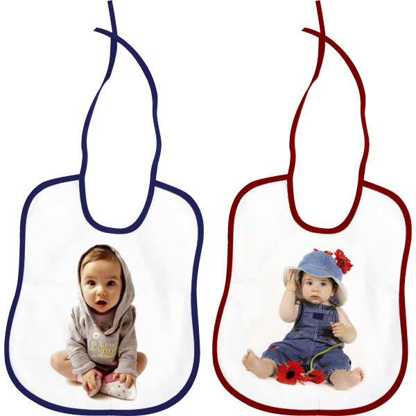 MCprint.eu - Photogift: Photo bib childs - red or blue hem