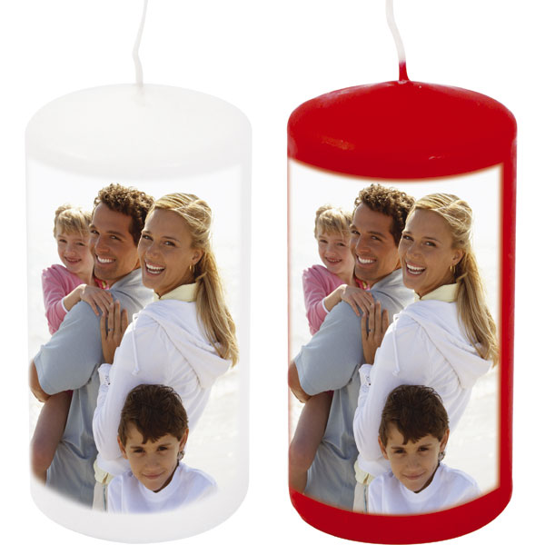 MCprint.eu - Photogift: Photo candle - white or red