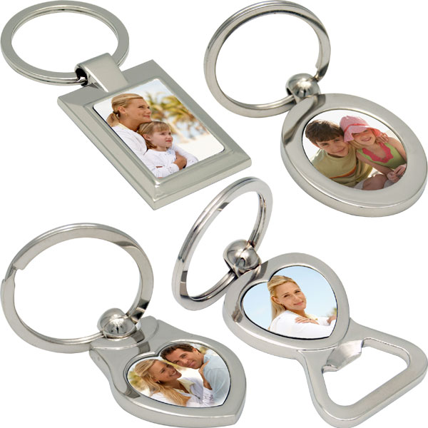 MCprint.eu - Photogift: Photo key ring - rectangle, oval, heart with an opener in the shape of a heart