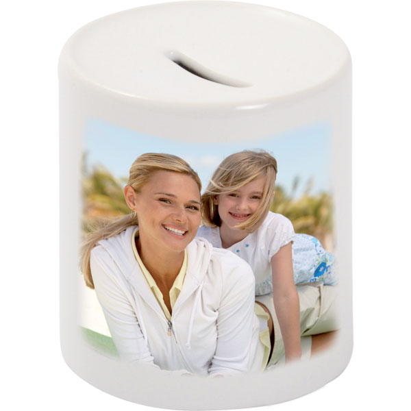 MCprint.eu - Photogift: Photo money box white for metal coins