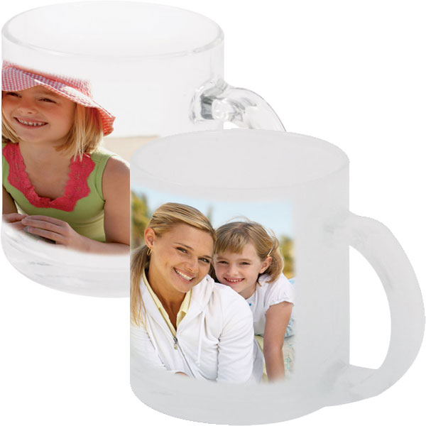 MCprint.eu - Photogift: Photo mug glass - clear or frosted