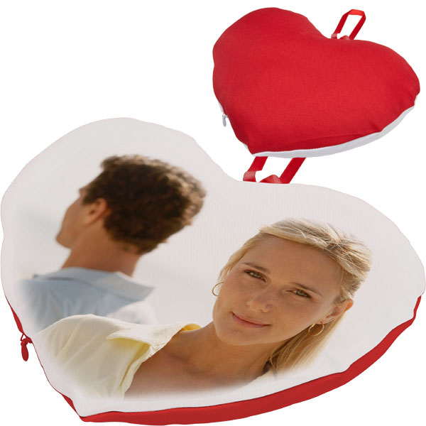 MCprint.eu - Photogift: Photo pillow heart red