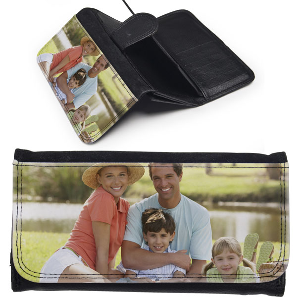 Wallet women - 1x print, beautiful gift for mom with a photo