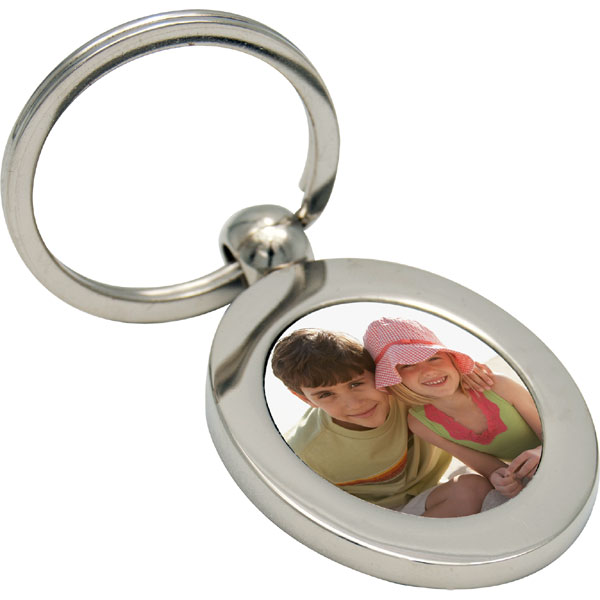 Key case - oval, a gift with a photo of grandchildren for your great-grandma