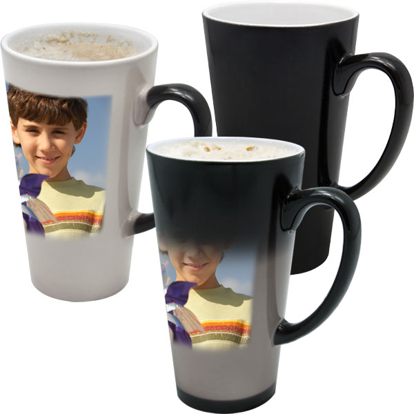 Mug MAGIC latte big, 1x print for a right-hander, a gift for your granny