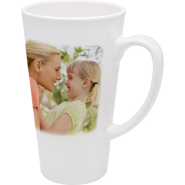 Mug latte big - 1x print for a right-hander, a gift from a photo for your mum