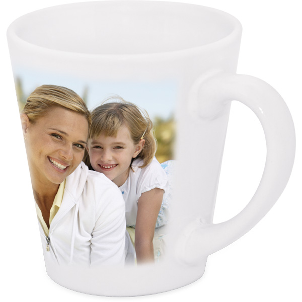 Latte mug - 1x print for a right-hander, a retirement gift with a photo