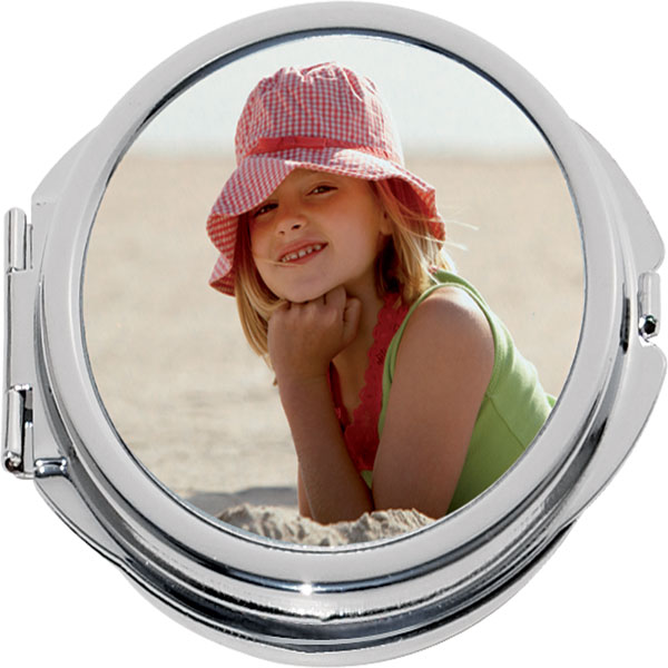Pocket mirror - circle, a gift from digital photos for your mum and granny