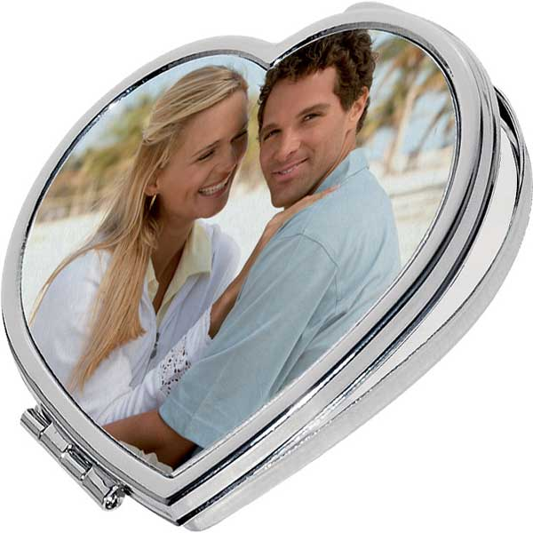 Pocket mirror - heart, a romantic gift with a collective photo for your mum