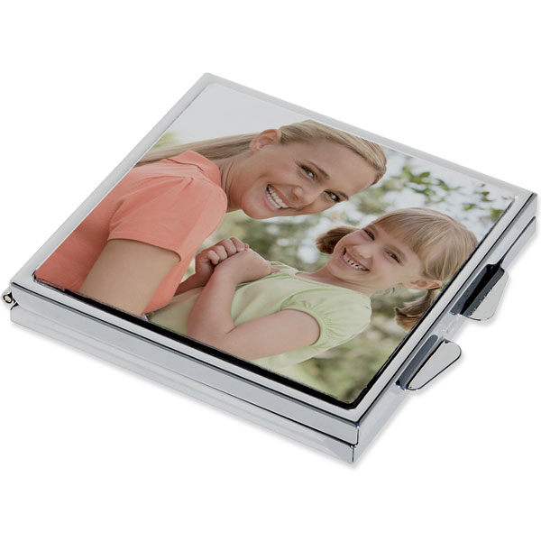 Pocket mirror - square, an original gift for your sister with her own photo