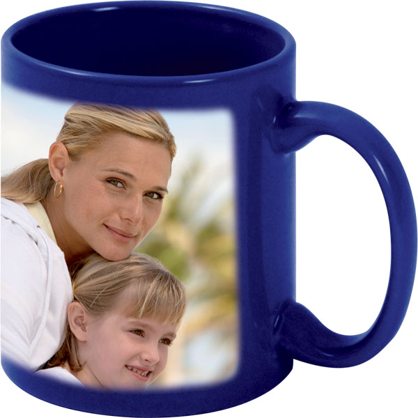 Blue mug - 1x print for a right-hander, gift with printing for your daddy