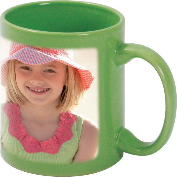 Green mug - 1x print for a right-hander, gift from a photo for a fisherman