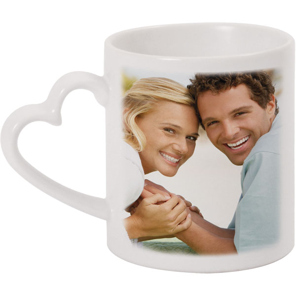 Heart mug - 1x print for a left-hander, a gift of love for your boyfriend