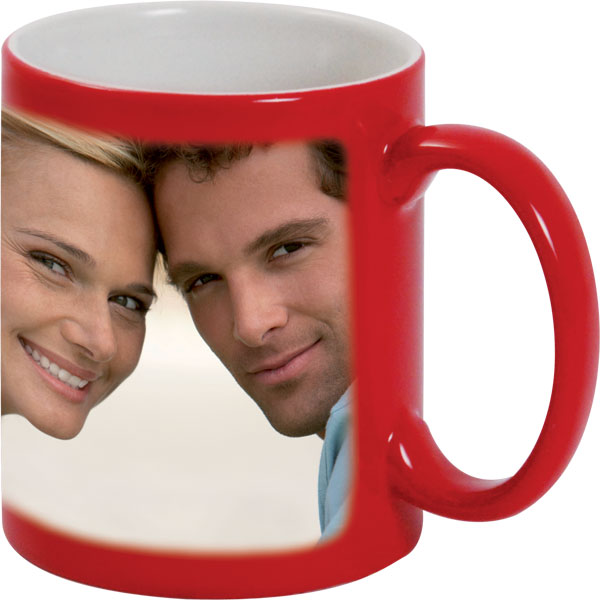 Red mug - 1x print for a right-hander, gift of love for your girlfriend
