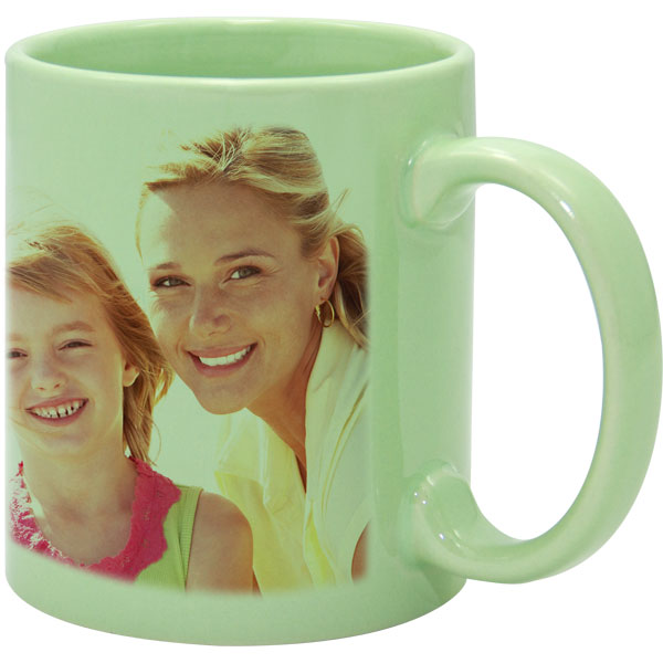 Mug light green - 1x print for a right-hander, keepsake from photo for hunters