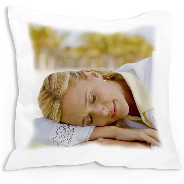 Pillow square - 1x print, a great birthday gift for your girlfriend from photo