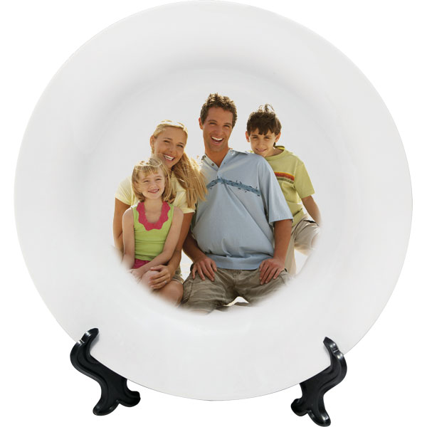 Ceramic small plate - 1x print, a cheap gift with a personal picture for joy