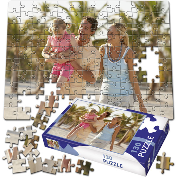 130 Piece Puzzle 11 x 8 in with a gift box