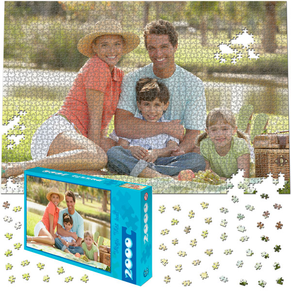 2000 Piece Puzzle 35 x 23 in with a gift box
