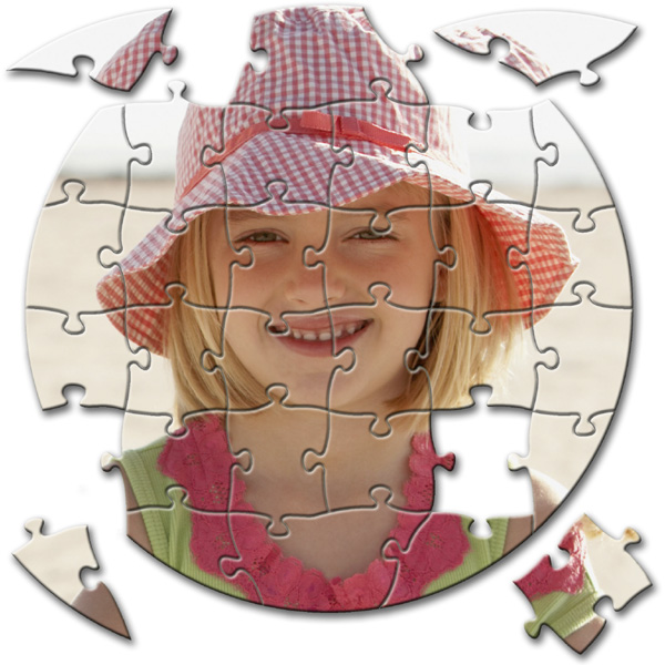 30 Piece Puzzle diameter 6.5 in - circle, puzzle printing as gift for children