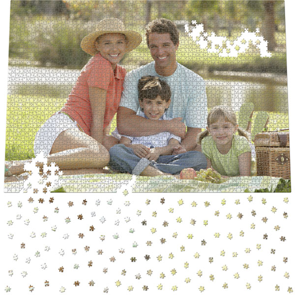 3404 Piece Puzzle 60 x 40 in, a maxi anniversary gift from personal photos