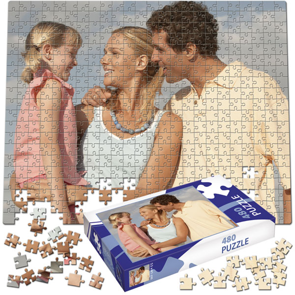 480 Piece Puzzle 21 x 16 in with a gift box