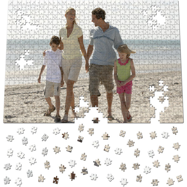 912 Piece Puzzle 31 x 21 in, an original gift from a photo for your daddy