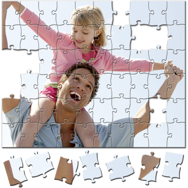 60 Piece Puzzle 10 x 8 in, a photo gift from a personal photo for girls