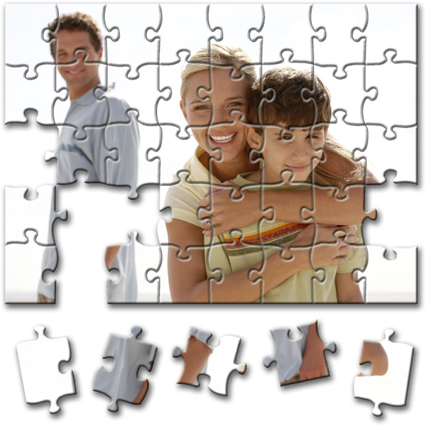 40 Piece Puzzle 5.5 x 4 in, a photo gift with printing from photos for boys