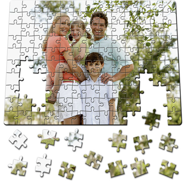 130 Piece Puzzle 11 x 8 in, a magnetic gift from a photo for children