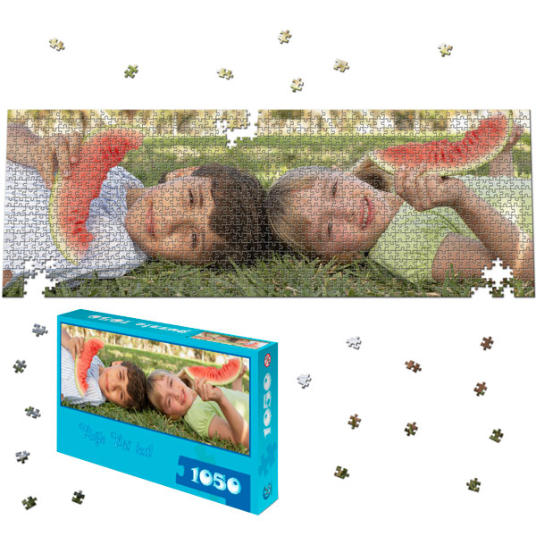 1050 Piece Puzzle Panoramic 35 x 12 in with a gift box