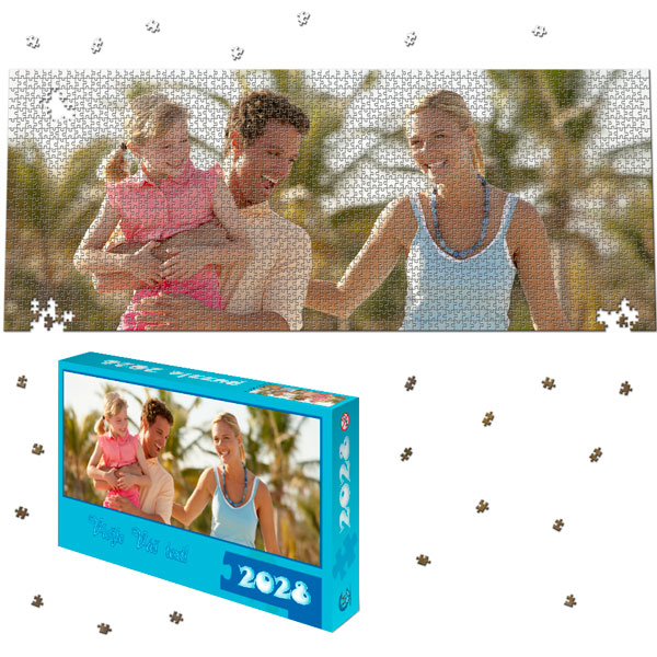 2028 Piece Puzzle Panoramic 45 x 18 in with a gift box