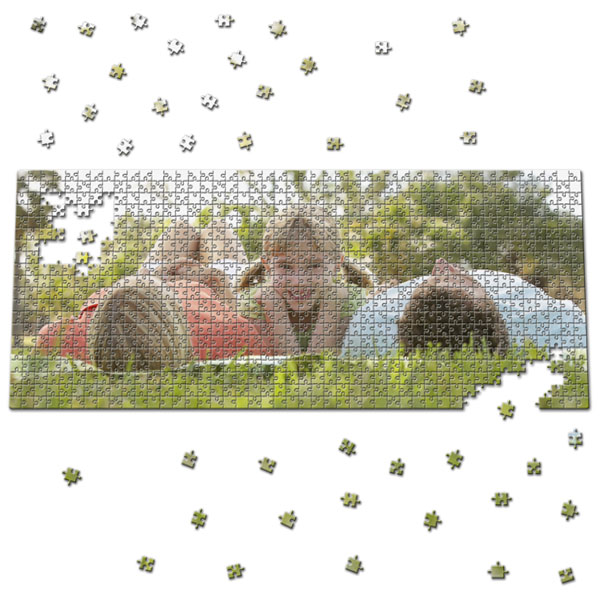 920 Piece Puzzle 40 x 16 in, a great gift with a photo for your grandpa
