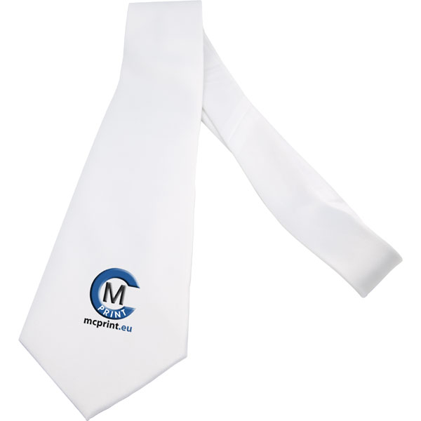 Tie white - 1x print, a name day gift with a personal photo for men