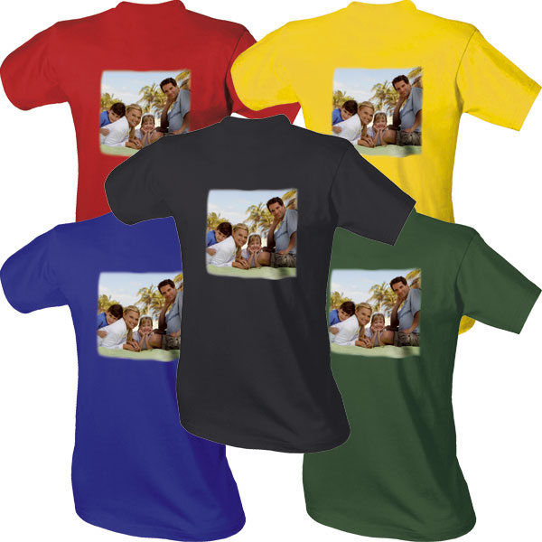 989d755e186 Tričko barevné ze 100% bavlny s jedním nebo dvěma potisky z vlastní fotky