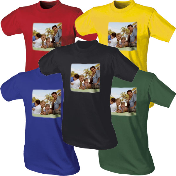 Coloured T-shirt - 1x chest print, an original gift from a photo for brother
