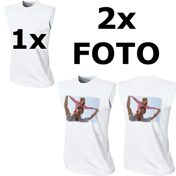 White women's T-shirt - 2x prints, a beautiful gift with digital pictures