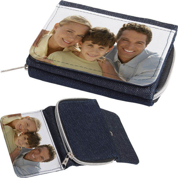 Wallet children - 1x printing, gift for kids pocket money with photography