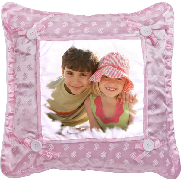 Pillow pink - 1x print, a gift for the birthday girl with your own photos